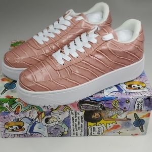 NEW JEFFREY CAMPBELL pink croc Court Sneakers 10